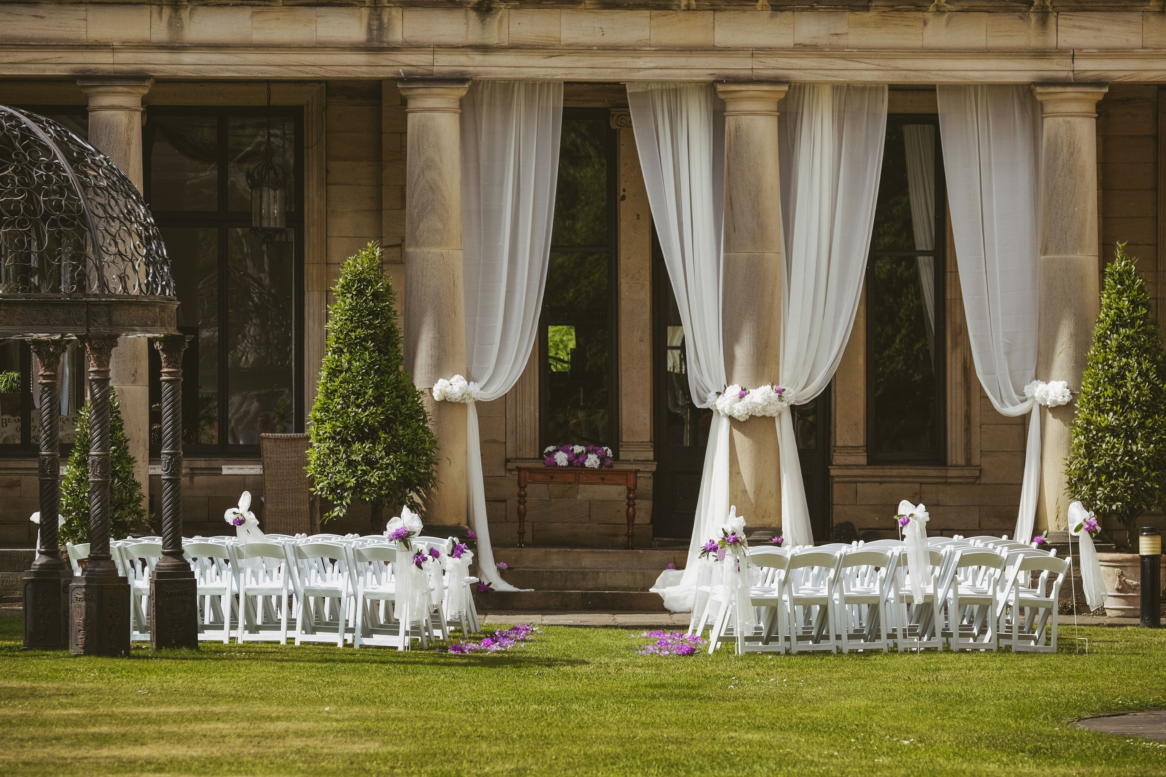 Unique Glamorous Outdoor Wedding Ceremonies At Beamish Hall Between Durham And Newcastle Http