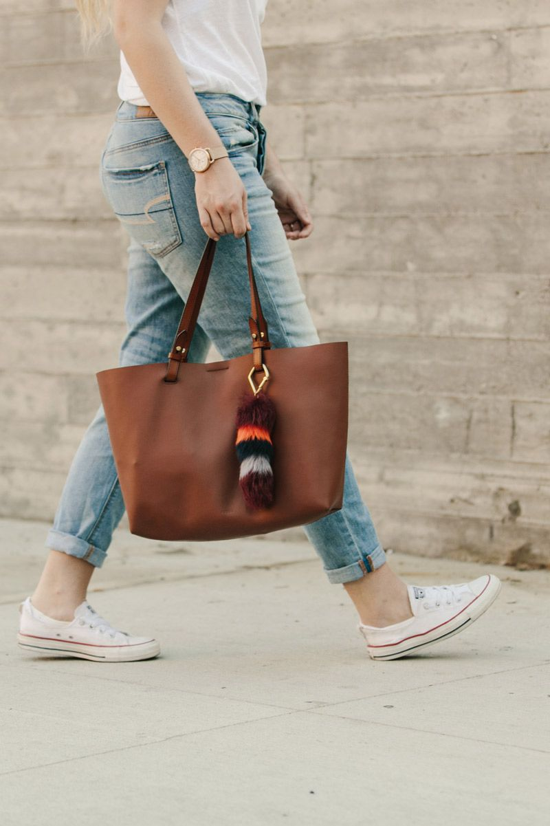 8441d76f61a2 Our favorite everyday leather tote with a touch of personalization ...
