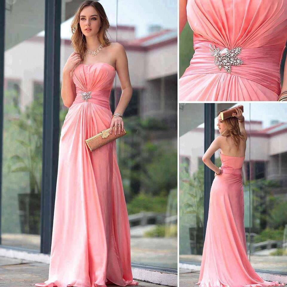 Salmon bustier dress.... | Glitz n glam | Pinterest | Vestiditos