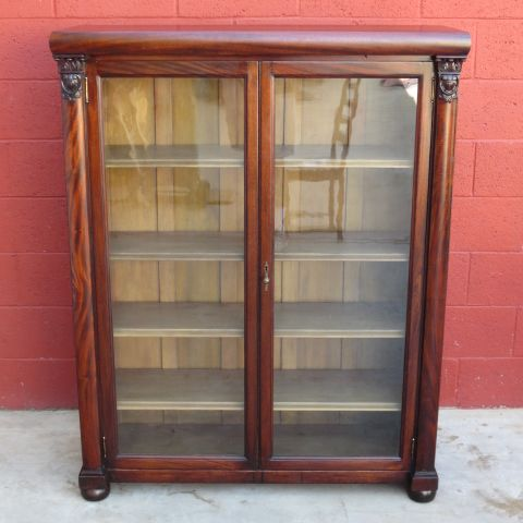 Antique Bookcase Display Cabinet Furniture