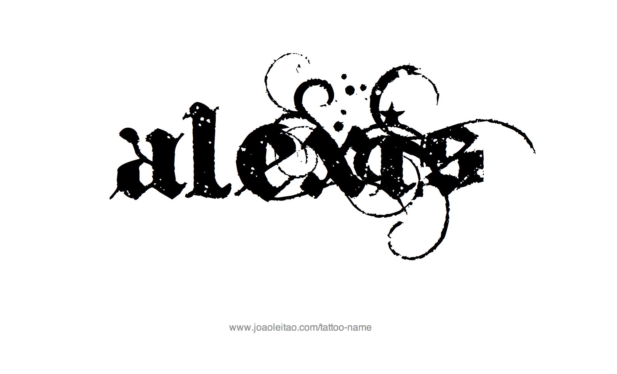 Alexis Name Tattoo Designs | Name tattoo designs, Names ...
