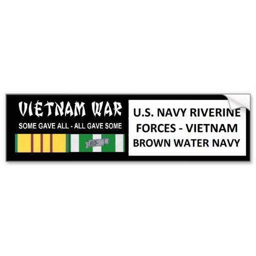 Navy riverine forces vietnam war veteran bumper stickers