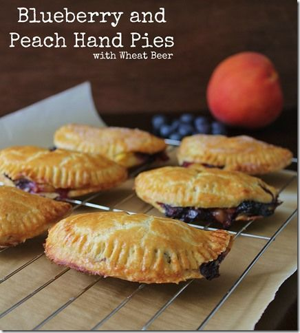 Blueberry Peach and Bourbon Barrel Wheat Beer Hand Pies