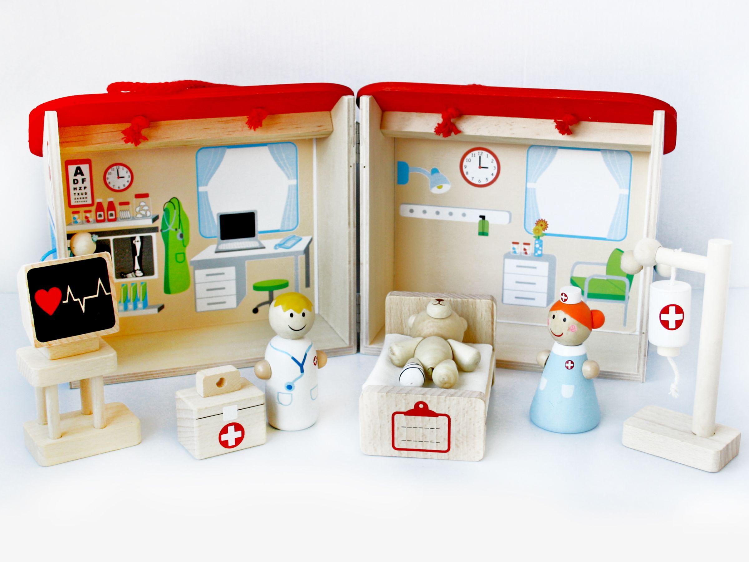 Would your kids enjoy making teddy feel better Mocka s Hospital