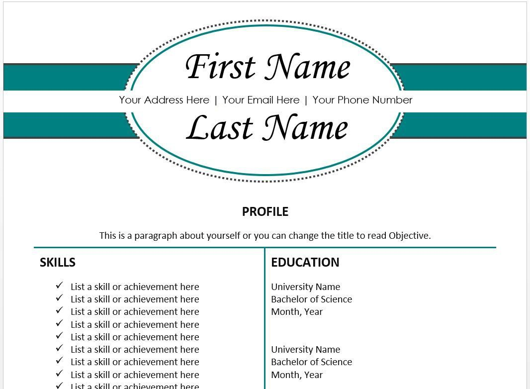 The 10 Best Resume Templates You Ll Want To Download Resume Help