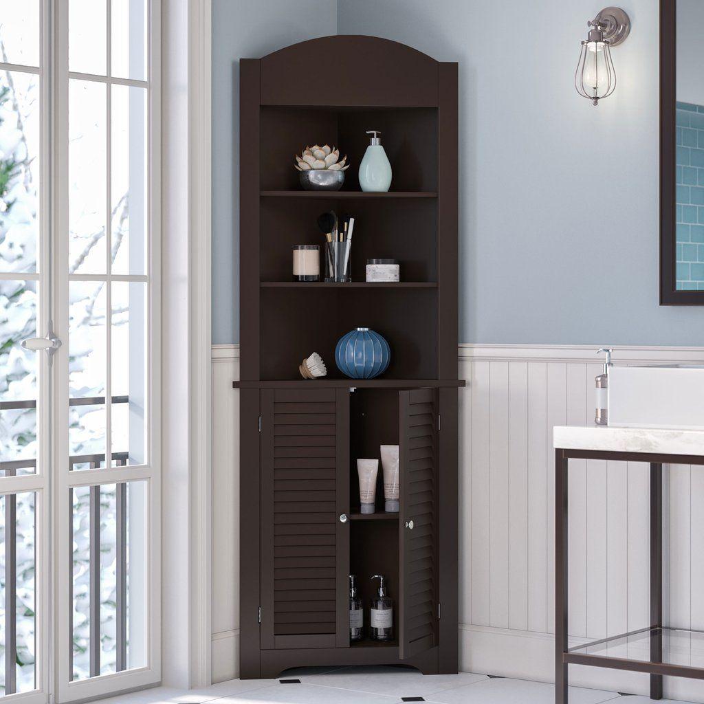 Ellsworth Tall Corner Cabinet In Espresso Riverridge Home Dark