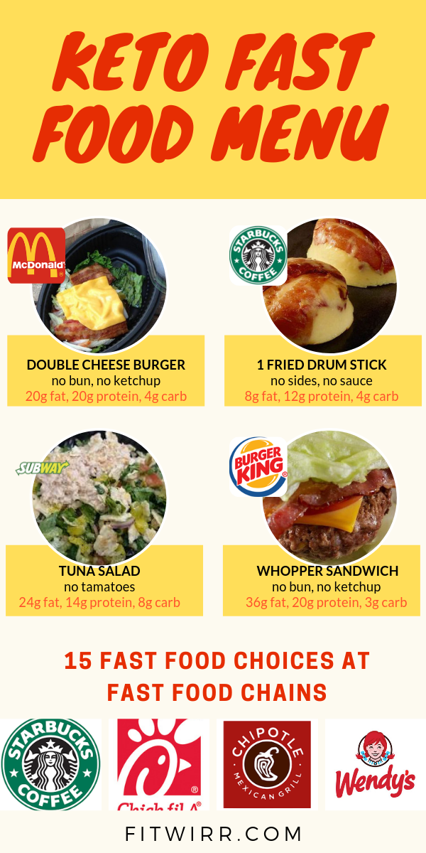 fast food for low carb diet