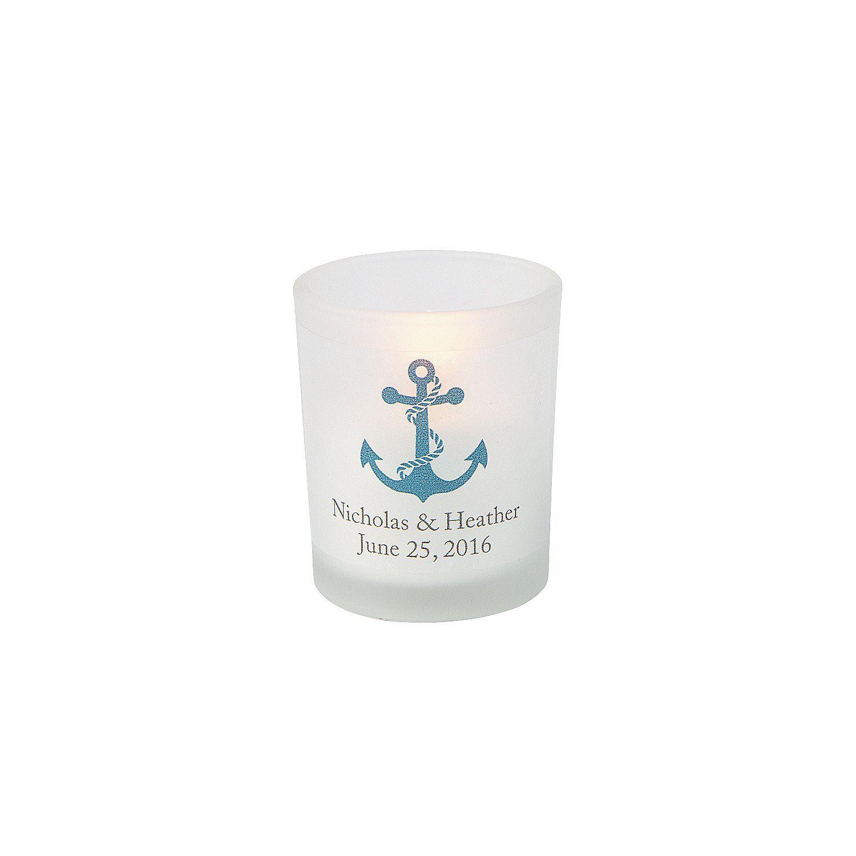 Personalized Nautical Votive Holders | Votive holder, Nautical ...