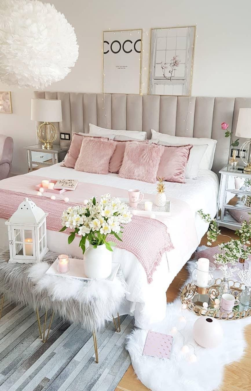 45 Beautiful And Modern Bedroom Decorating Ideas For This Year Page 2 Of 45 Lasdiest Com Daily Women Blog Modern Bedroom Decor Girl Bedroom Decor Bedroom Decor