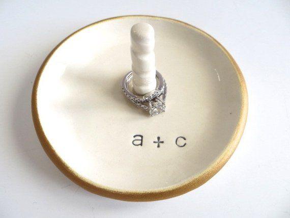 cf493c2f1bfa5 Ring dish, Ring Holder, Engagement gift, Bridal Shower gift ...