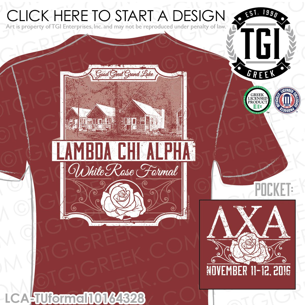 T shirt printing at white rose - Lambda Chi Alpha White Rose Formal Fall Formal Semi Formal Fraternity Formal Formal T Shirts Brotherhood Greek Formals Tgi Greek