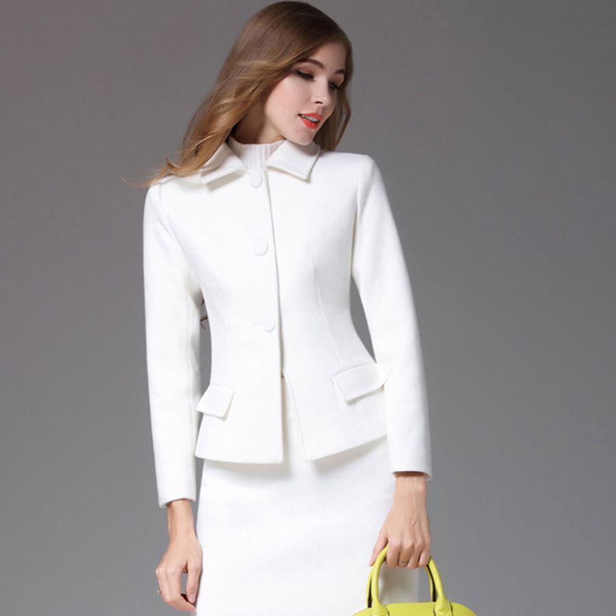 b724141ff664 Barato Roupas Blazer Magro Elegante Casaco Longo Terno das mulheres Ternos  de Negócio Do Escritório Cardigan