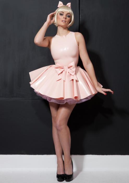 latex pvc Rubber dress correst