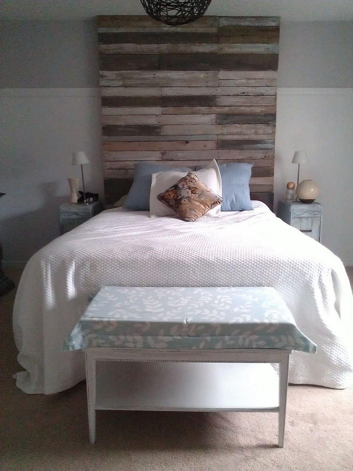 pallet head board project White bedroom decor, Bedroom decor
