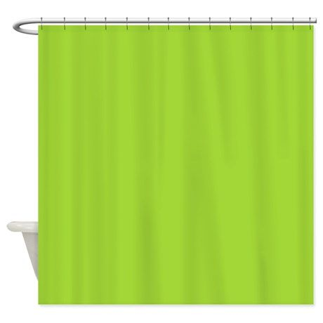 Cute Neon Green Shower Curtain On Cafepress Com Solid Color