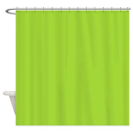 cute neon green shower curtain on