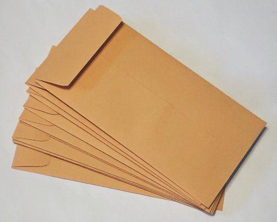 Kraft Coin Envelope 3 1 2 X 6 1 2 No 7 Size Set Etsy Coin Envelopes Card Template Card Envelopes