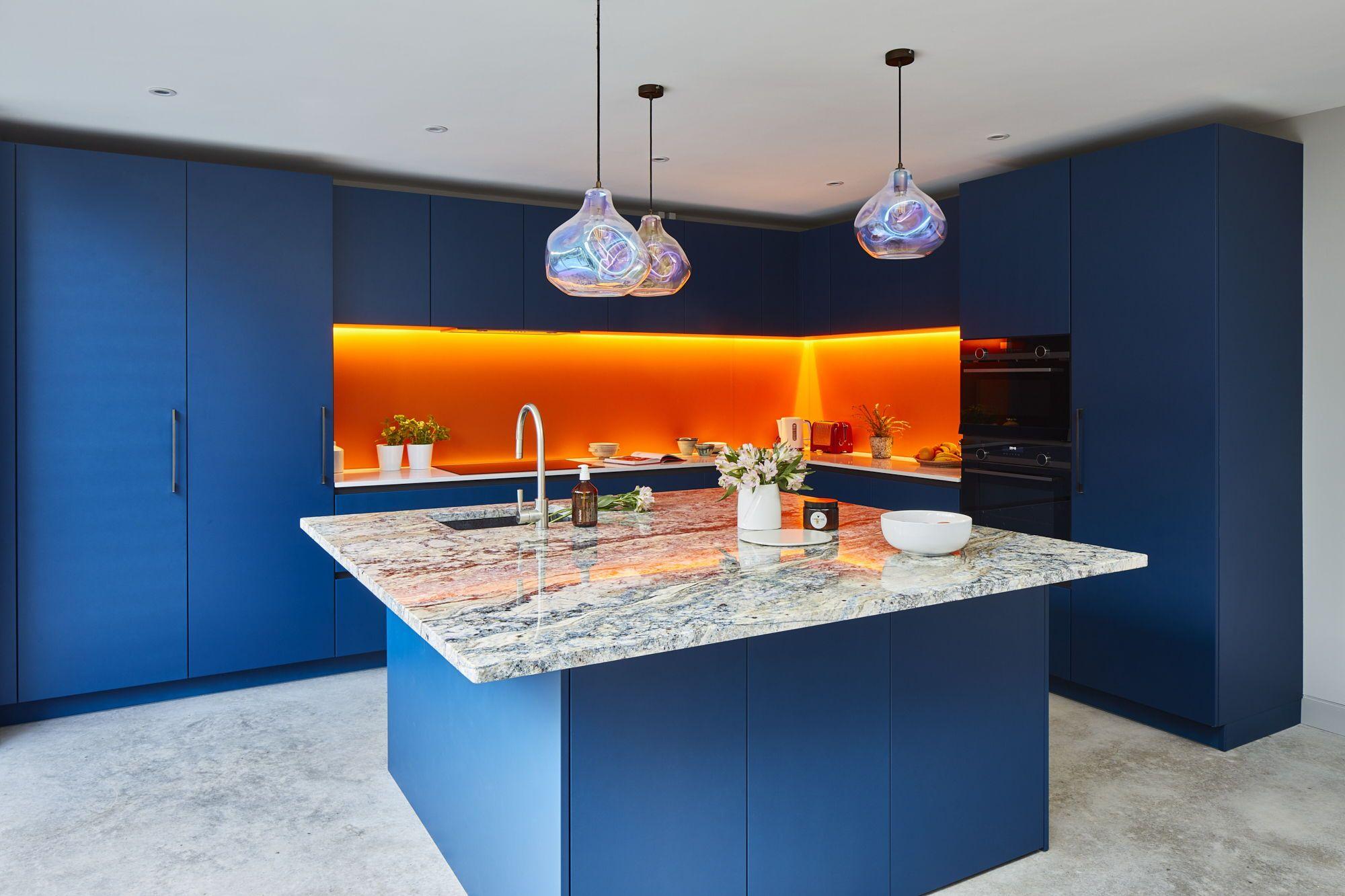Bold Blue Blackheath Kitchen in 2020 Blue kitchen