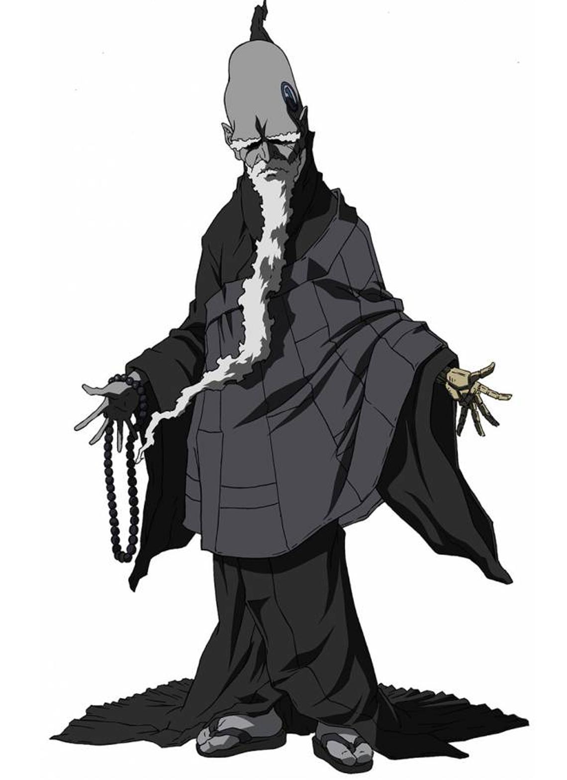 Shinigami Wolf Afro Samurai Samurai Anime Samurai