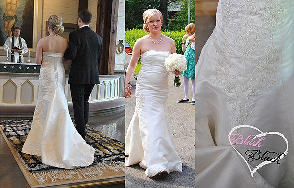 Wedding dress project, part 2   Dress design and made by lovely ladies Elli Halttu and Lilli Halttu   Blush loves Black blog on haat.fi