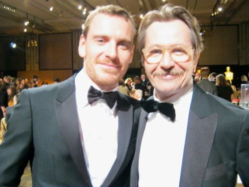 """It's a wonderfully unexpected thing. I met Michael Fassbender for the first time the other night, and he said, """"You're why I'm doing it."""" I don't walk around on air, but those are nice things to hear, especially from people who one admires, who I look at and think, """"He's wonderful."""" That's always very flattering, but it's been a little bit of talent and a bit of luck. Careers are funny things.      - Gary Oldman"""