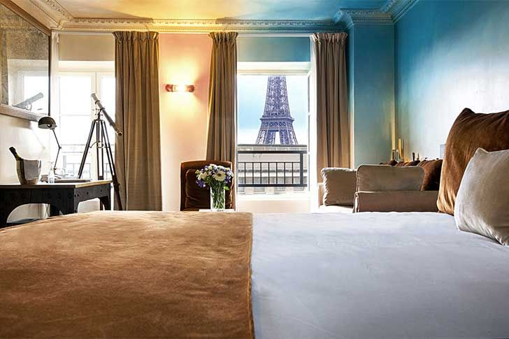 17 Instagrammable Paris Hotels with Eiffel Tower Views