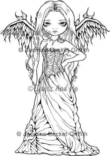 Jasmine Becket Griffith Coloring Pages Free Fairy Coloring Pages