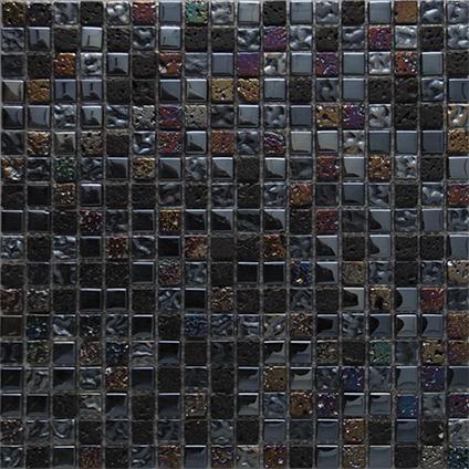 Moza 239 Ek Tegel Black Mix Zwart 29 5 X 29 5cm Per 0 09m2