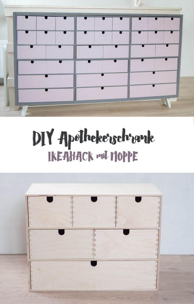 Photo of DIY build IKEA MOPPE Apothekerschrank by Schrankchen