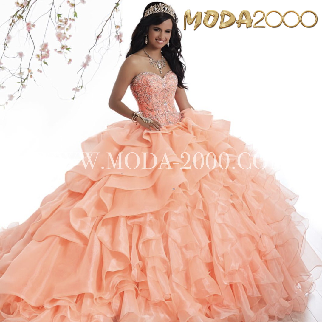 Sweetheart Peach Coral Quinceanera Dress Ruffles Available At Moda 2000 Instagram Quinceanera Dresses Peach Satin Homecoming Dress Coral Quinceanera Dresses [ 1080 x 1080 Pixel ]
