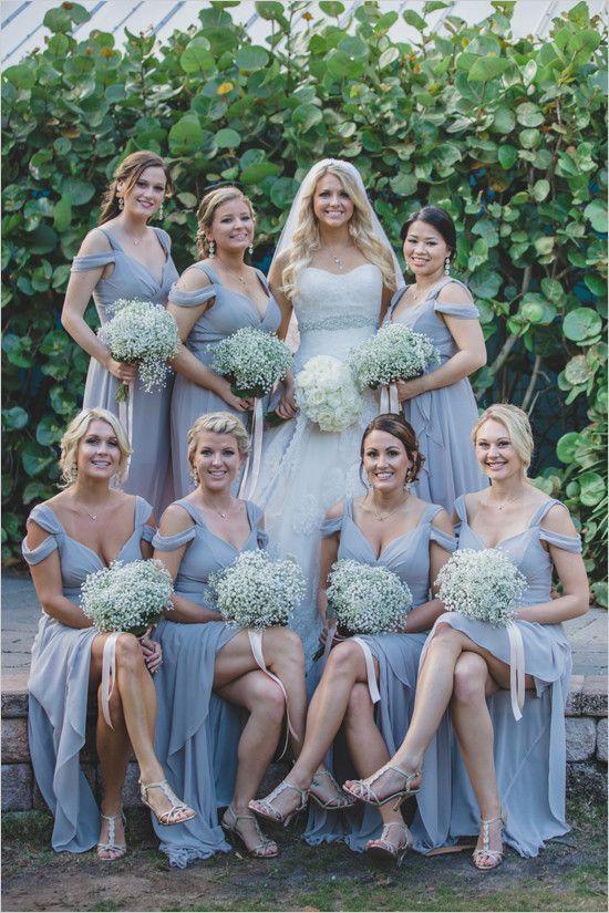 Rustic Light Grey Bridesmaid Dresses