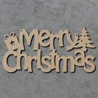 Merry Christmas Wreath - Wooden Laser Cut mdf Craft Shapes | eBay