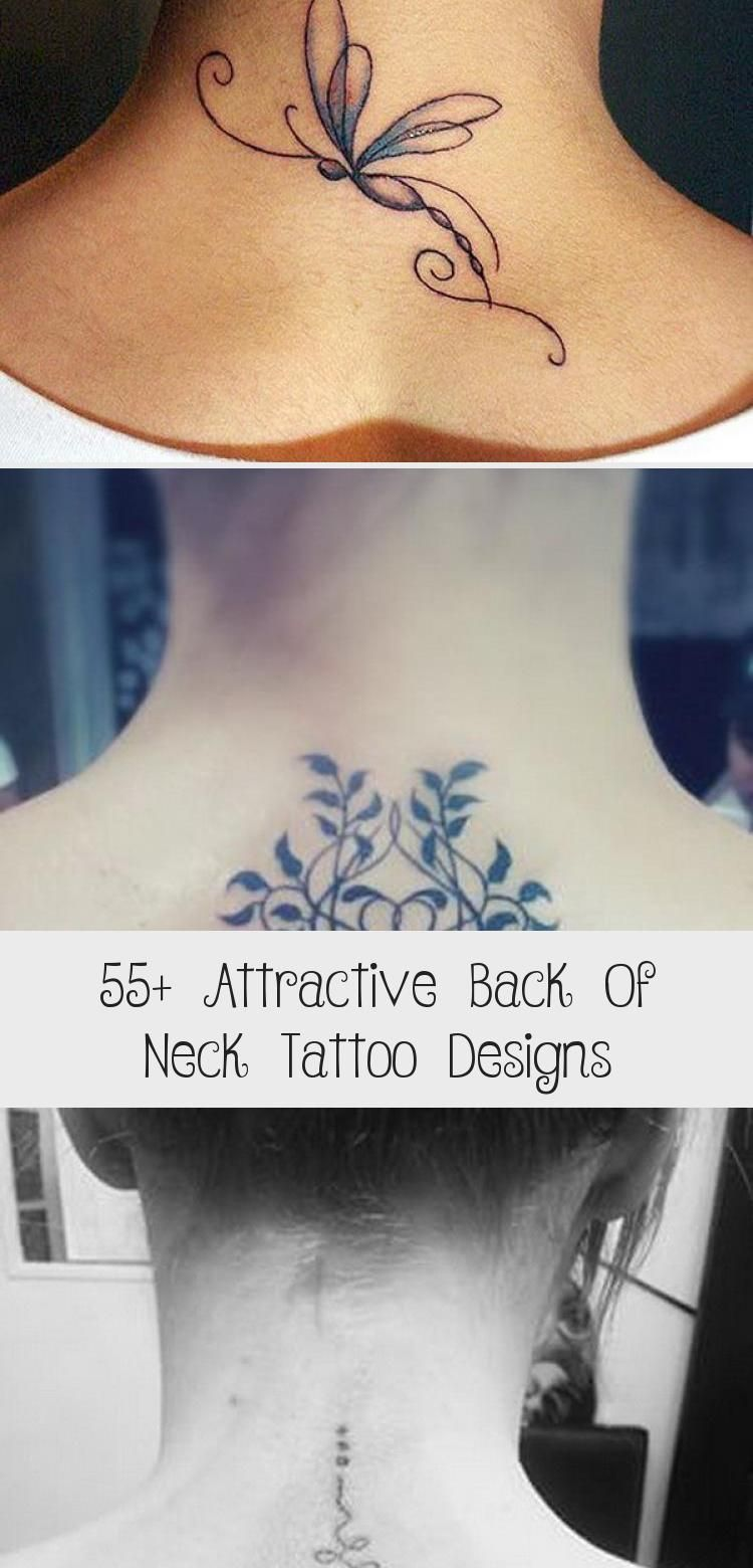 55+ Attractive Back Of Neck Tattoo Designs Best Tattoos