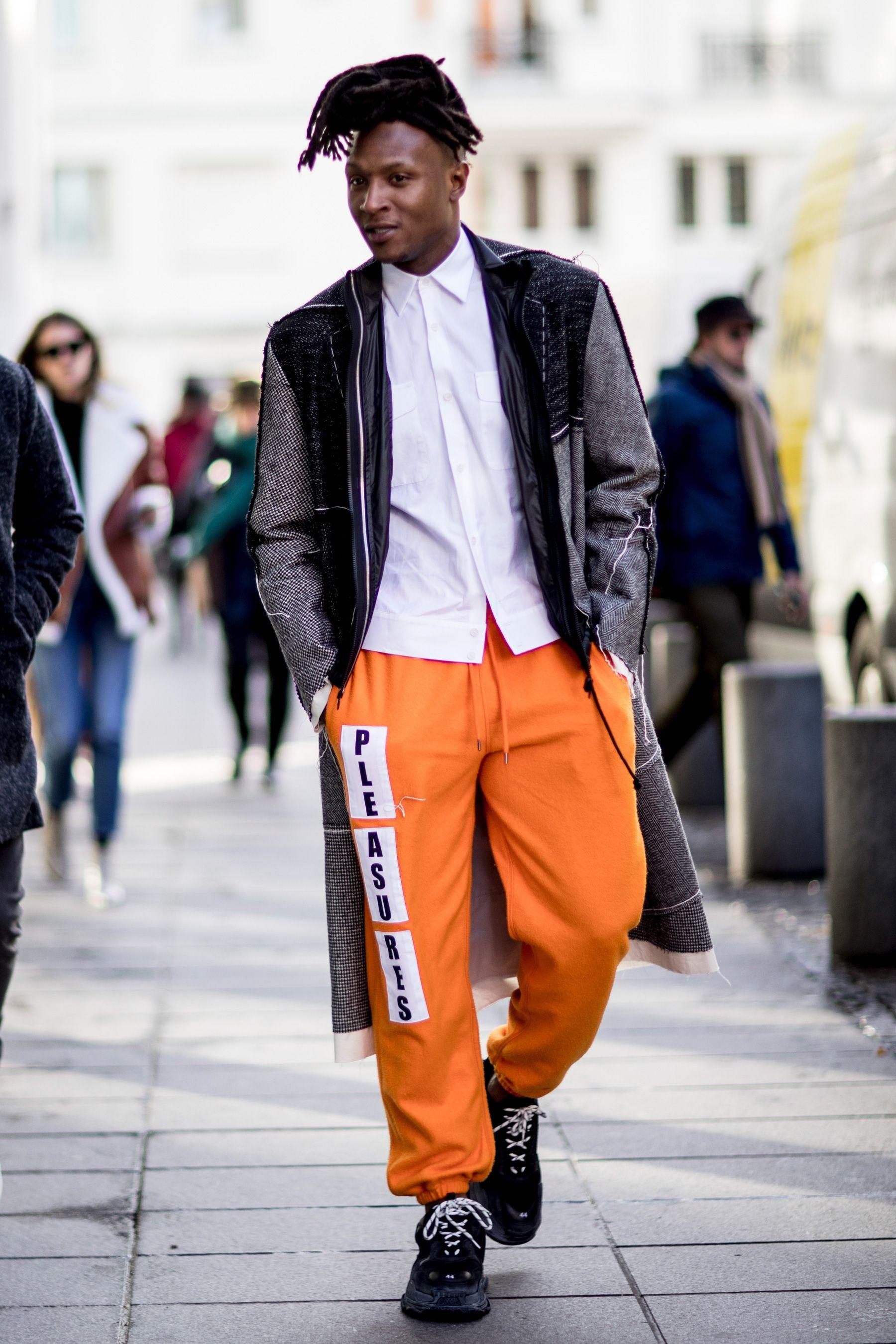 Image result for men's orange trend fall 2018