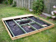 easy ground level deck - Google Search