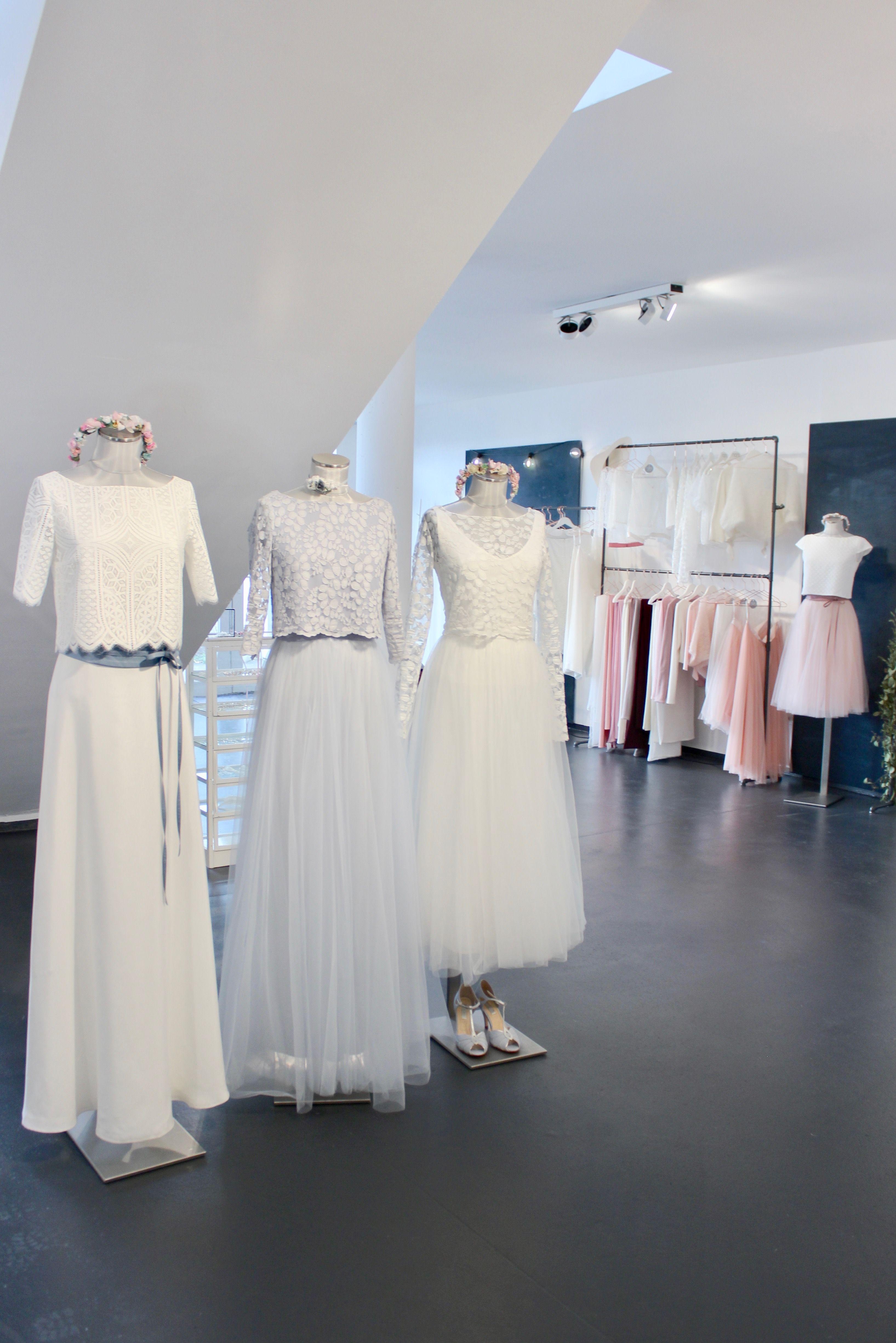 Brautkleid, zweiteilig, Standesamtkleid, Hochzeitskleid mit