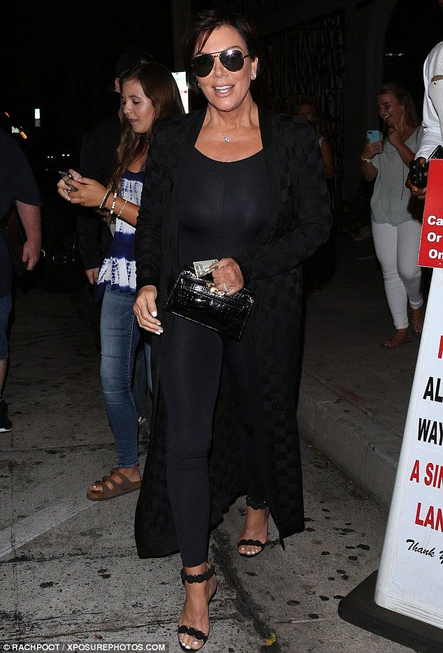 Keep up with Kris in her Alaia heels #DailyMail  Click 'Visit' to buy now