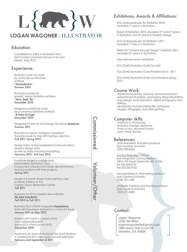 Digital Image Processing Resume Professional Resumelogan Wagoner Via Behance  College .