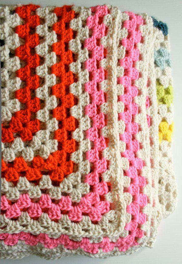 Giant, Giant Granny Square Blanket   Pinterest   Manta cuadrada ...