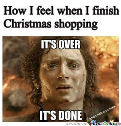 Image result for christmas shopping meme