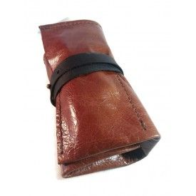 Travel Watch Roll, Leather Roll