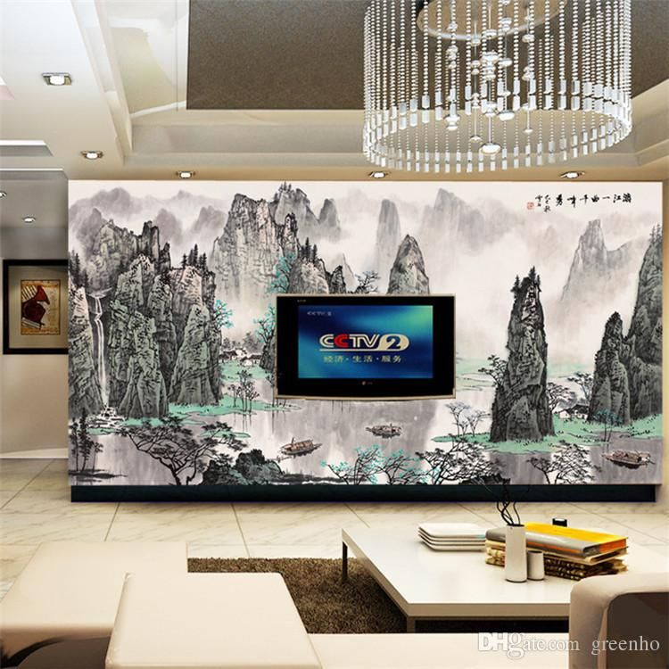 Art Wall Mural Large Size Chinese Landscape Painting Photo Wallpaper Custom Non Woven Canvas ROOM