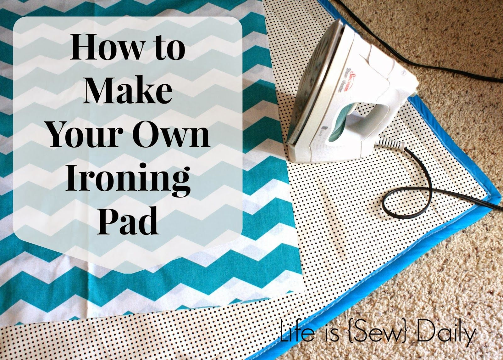 how to make your own ironing pad perfect for travel or ironing without an ironing board via. Black Bedroom Furniture Sets. Home Design Ideas