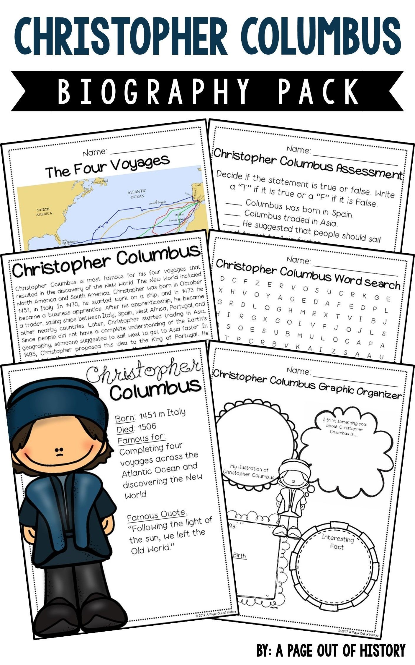 Christopher Columbus Biography Pack New World Explorers