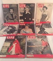 Vintage LIFE MAGAZINE Lot of 8 Issues From 1953 Complete Magazines