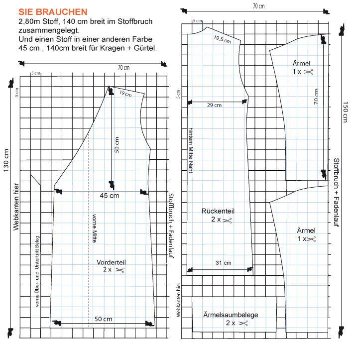 Bademantel - Kimono | DIY || Damenkleidungschnittmuster, die ich ...