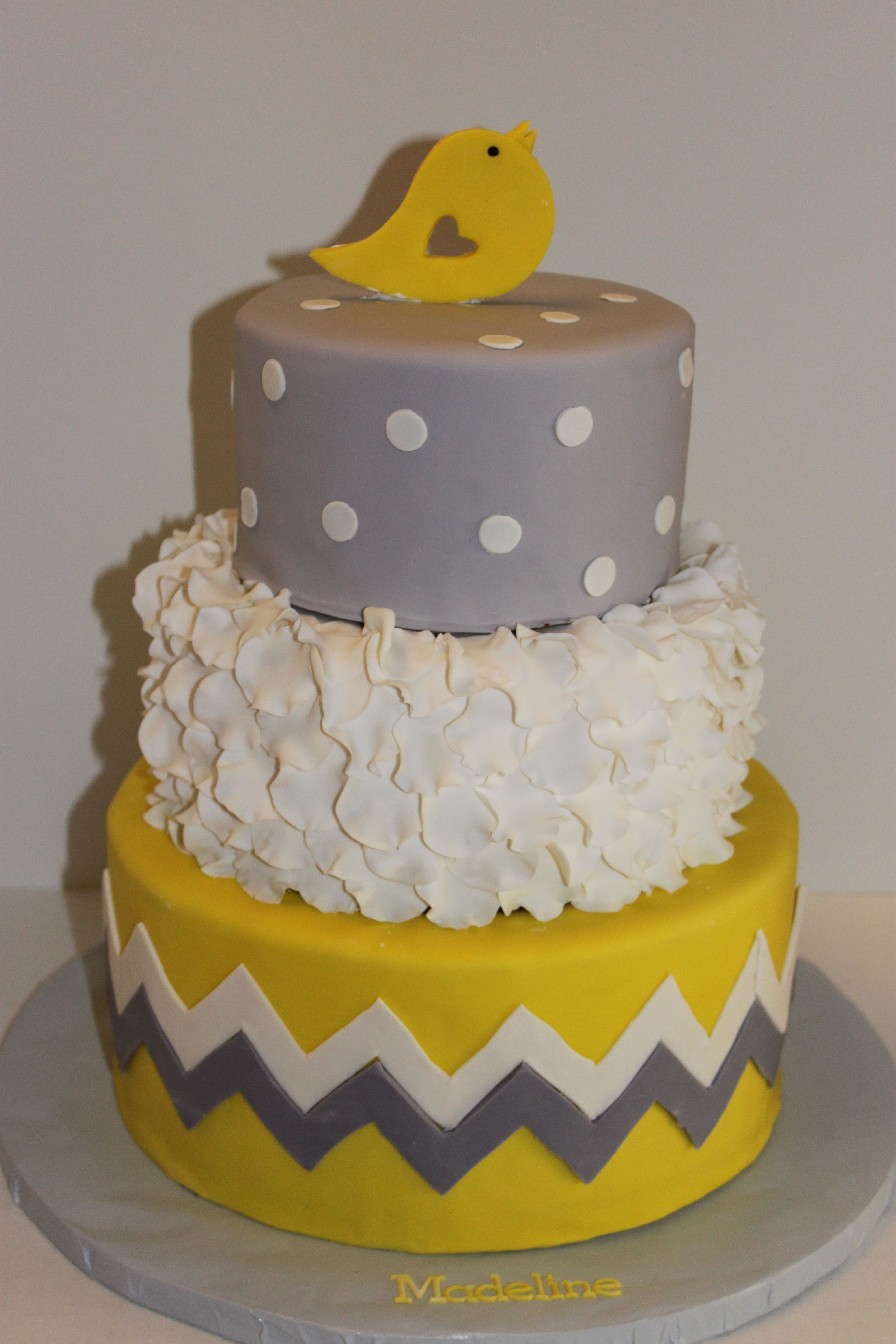 Bird Cake (Could Be For A Baby Shower, Birthday Party,