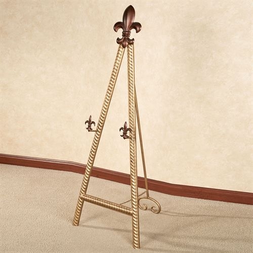 Antique Gold Floor easel