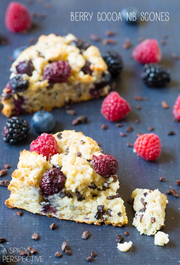 Fresh Berry Cocoa Nib Scones! #scones #sconerecipe #berry