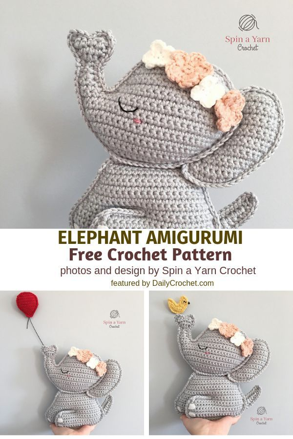 Sweetest Crochet Elephant Pattern To Decorate Your Baby's Nursery - Knit And Crochet Daily
